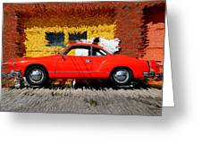 Karmann Ghia Greeting Card