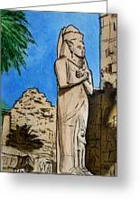 Karnak Temple Egypt Greeting Card by Irina Sztukowski
