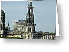 Katholische Hofkirche - Dresden Greeting Card