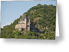 Katz Castle On A Hillside Greeting Card