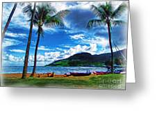 Kauai Beach And Palms Greeting Card