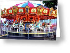 Kauai Carousel At Dusk Greeting Card