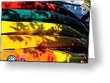 Kayak Colors Greeting Card