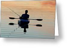 Kayak Fisherman Greeting Card
