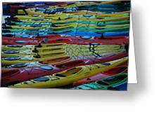 Kayak Row Greeting Card
