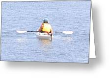 Kayaker Resting On The Water Greeting Card
