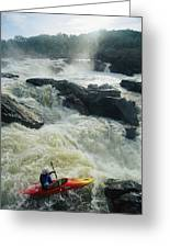 Kayaker Running Maryland Side Of Great Greeting Card