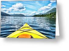 Kayaking In Bc Greeting Card