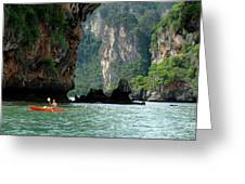 Kayaking In Thailand Greeting Card