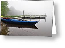 Kayaking Morning Greeting Card