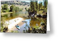 Kayaks On The Kettle Greeting Card