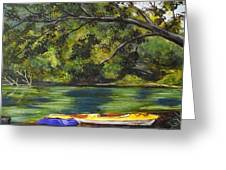 Kayaks On The Little Sandy Greeting Card