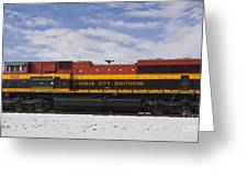 Kcs Locomotive Greeting Card