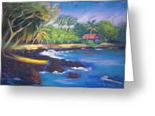 Kealakekua Bay Greeting Card by Karin  Leonard