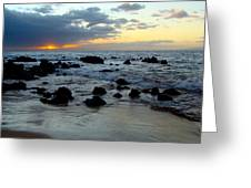 Keaweakapu Beach Sunset Greeting Card