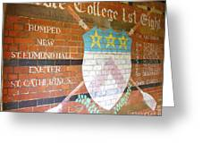 Keble College 2007 Rowing Standings Greeting Card