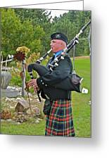 Keen Of The Kilt Greeting Card