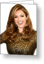 Kelly Brook 2 Greeting Card by Jez C Self