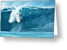 Kelly Slater At Pipeline Masters Contest Greeting Card