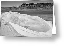 Kelso Sand Dunes 2 Bw Greeting Card
