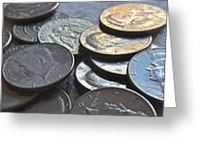 Kennedy Half Dollars I Greeting Card
