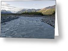 Kennicott River And The Wrangell Greeting Card