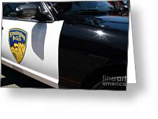 Kensington California Police Car . 7d15876 Greeting Card