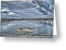 Kentucky Dam Dusk Greeting Card by Jim Pearson