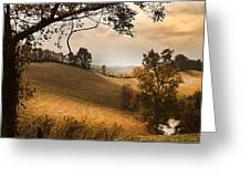 Kentucky Type Hayfields Greeting Card