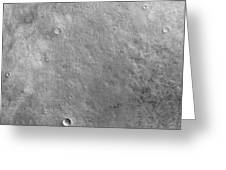Kepler Crater On The Surface Of Mars Greeting Card