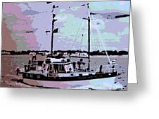 Ketch Greeting Card