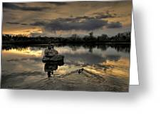 Ketring Lake Sunset Greeting Card