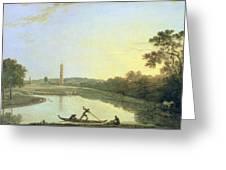 Kew Gardens - The Pagoda And Bridge Greeting Card