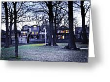 Kew Park At Dusk Greeting Card