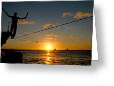 Key West Sunset Performance Greeting Card