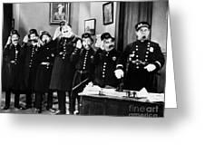 Keystone Cops Greeting Card