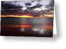 Kihei Silvery Sunset Greeting Card