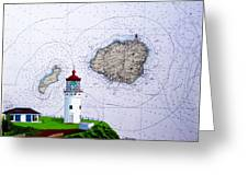 Kilauea Point Lighthouse On Noaa Chart Greeting Card