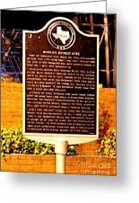 Kilgore Historical Marker Greeting Card