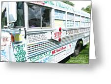 Kindness Bus 8 Greeting Card