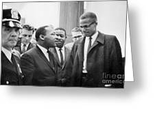 King And Malcolm X, 1964 Greeting Card