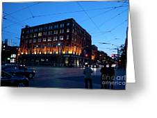 King And Spadina Greeting Card