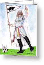 King Arthur Greeting Card by Fabio Lion