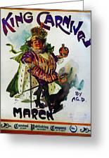 King Carnaval March - Mardi Gras Greeting Card