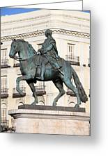 King Charles IIi Statue In Madrid Greeting Card