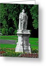 King Edward Vii Statue - Lichfield Greeting Card