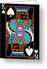 King Of Spades Greeting Card by Wingsdomain Art and Photography