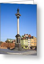 King Sigismund Column In Warsaw Greeting Card