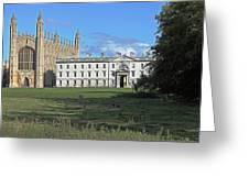 Kings College Chapel And The Gibbs Building Greeting Card