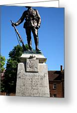 Kings Royal Rifle Corps Memorial In Winchester Greeting Card